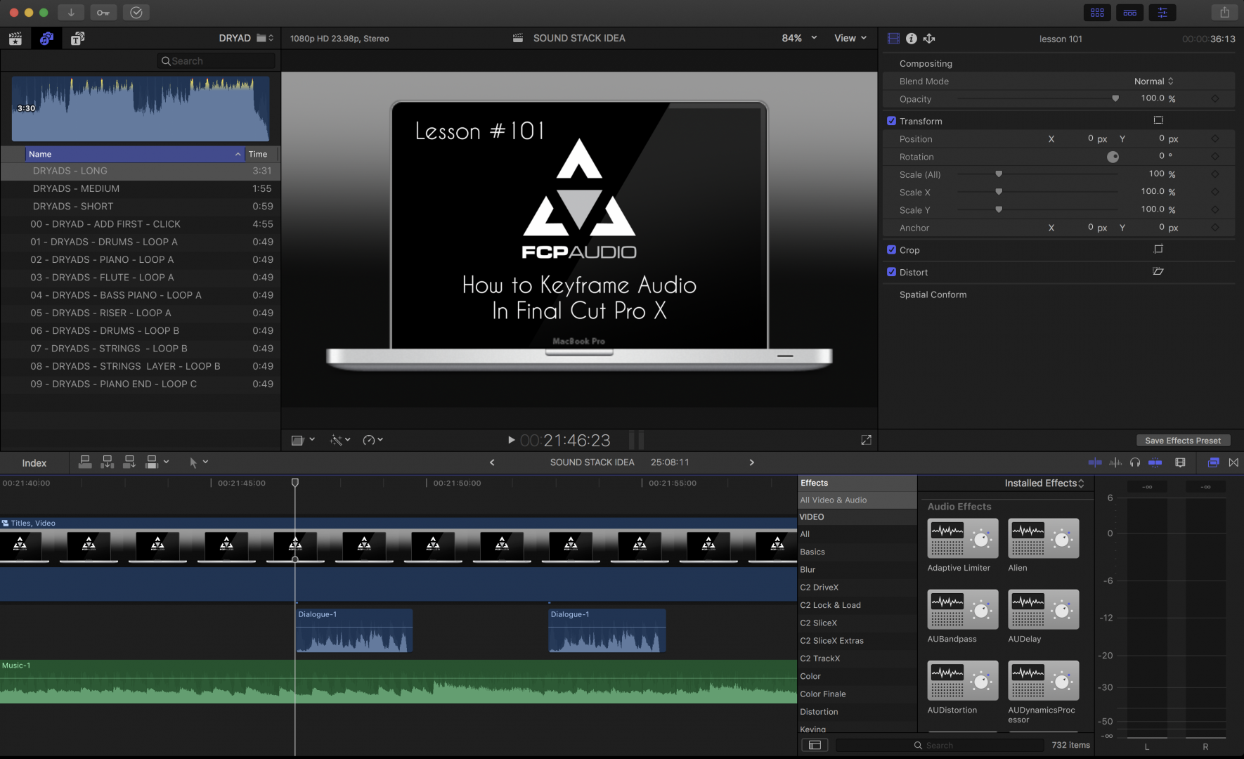 How to Edit Audio in Final Cut Pro